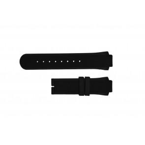 Breil correa de reloj TW0450 / TW0455 Caucho Negro 16mm