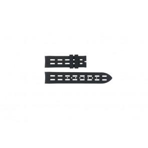 Breil correa de reloj BW0400 / F260053257 / F260053260 Caucho Negro 22mm