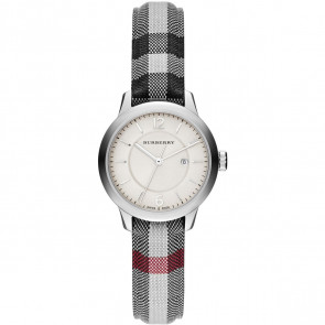 Correa de reloj Burberry BU10103 Cuero/Textil Gris