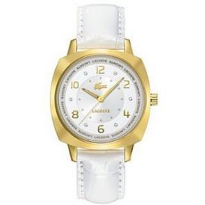 Correa de reloj Lacoste 2000604 / LC-47-3-34-2234 Cuero Blanco 18mm
