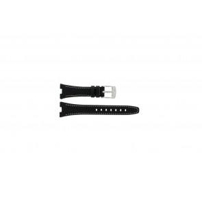 Camel correa de reloj 6000-6007 Piel Negro 22mm + costura blanca