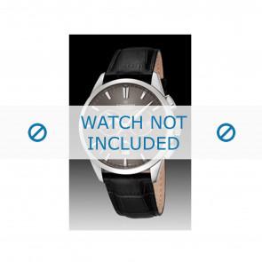 Candino correa de reloj C4517-2 Cuero Negro + costura negro