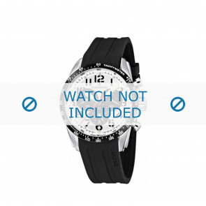 Correa de reloj Candino C4472 Caucho Negro 22mm