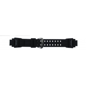 Casio correa de reloj GA-1000-1AV Silicona Negro 22mm