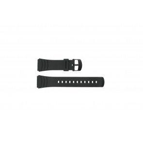 Casio correa de reloj DBC-32C-1BW Goma Negro 22mm