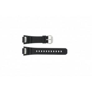 Correa de reloj GS-1000J-1A / 10212982 / 10332054 Silicona Negro 16mm