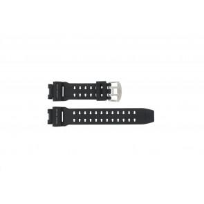 Casio correa de reloj GW-9110-1D Goma Negro 16mm