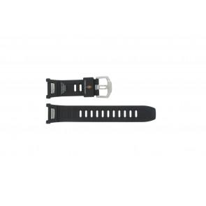 Casio correa de reloj PAW-1500-1VV Goma Negro 16mm