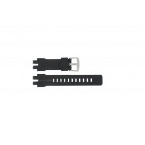 Casio correa de reloj PRW-6000 Goma Negro 16mm