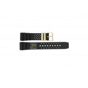 Correa de reloj Universal CMT-22-DBL Caucho Negro 22mm