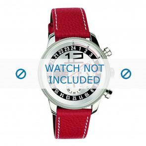 Dolce & Gabbana correa de reloj 3719740276 Cuero Rojo + costura blanca