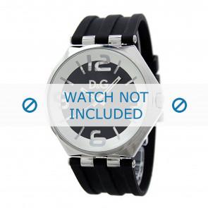 Dolce & Gabbana correa de reloj DW0582 Caucho Negro