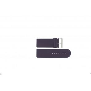 Jacques Lemans correa de reloj DC218 / PUR Cuero Púrpura 26mm