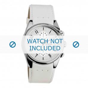 Dolce & Gabbana correa de reloj 3719770084 Cuero Blanco 20mm + costura blanca
