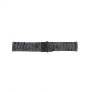 Diesel correa de reloj DZ4318 / DZ4283 / DZ4316 / DZ4355 / DZ4309 Metal Negro 26mm