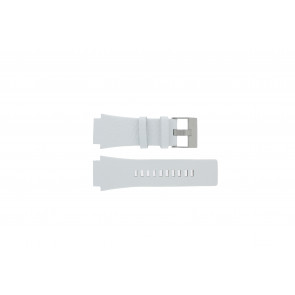 Diesel correa de reloj DZ1449 Cuero Blanco 25mm