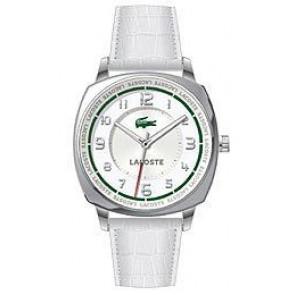 Correa de reloj Lacoste 2000598 / LC-47-3-14-2233 Piel de cocodrilo Blanco 18mm