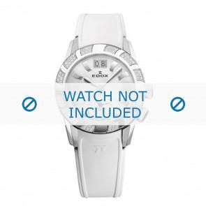 Edox correa de reloj 62005 Silicona Blanco