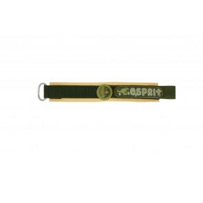 Esprit correa de reloj ES101333002U Velcro Verde 16mm + costura marrón