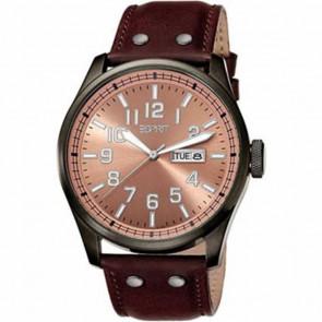 Esprit correa de reloj ES103151002 Cuero Marrón 25mm + costura marrón