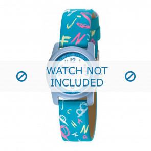 Esprit correa de reloj 000FA4 / 000FA4029 / ES000FA4-40BL Cuero Azul