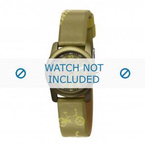 Esprit correa de reloj ES000FA4-40GR / 000FA4044 Cuero Verde