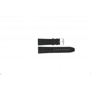 Jacques Lemans correa de reloj FC29 / 9-201 Cuero Negro 23mm + costura negro