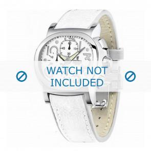 Festina correa de reloj F16125.7 Cuero Blanco 23mm + costura blanca