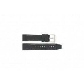 Festina correa de reloj F16183/40 Piel Negro 22mm + costura blanca