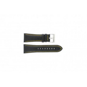 Festina correa de reloj F16235/7 Piel Negro 28mm + costura amarilla