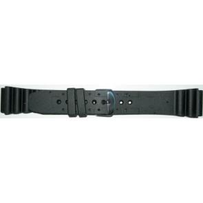 Correa de reloj Universal SL100 Silicona Negro 24mm