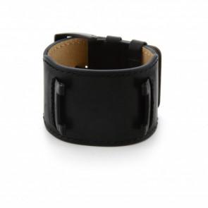 Guess correa de reloj W10265G1 / W0418G2 Cuero Negro 32mm + costura negro
