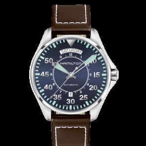 Correa de reloj Hamilton H64615545 Cuero Marrón oscuro 20mm