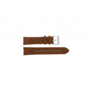 Hugo Boss correa de reloj HB-188-1-14-2672 / HB1513118 Cuero Cognac 22mm + costura marrón