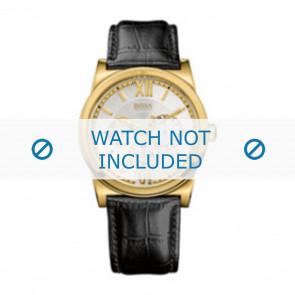 Hugo Boss correa de reloj 1512590 / HB-127-1-34-2301 / HB659302290 Cuero Negro 23mm + costura negro