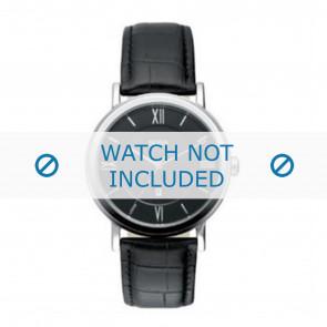 Hugo Boss correa de reloj HB-24-1-14-2034 / HB1512093 / HB1512092 Cuero Negro 20mm + costura negro