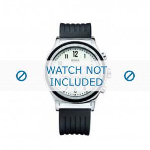 Hugo Boss correa de reloj HB-54-1-14-2117 / HB1512324 Caucho / plástico Negro 22mm