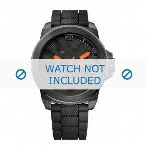 Hugo Boss correa de reloj HO1513004 / HB-221-1-34-2625 Caucho Negro 24mm