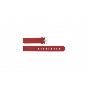 Correa de reloj Jacob Jensen 751 SERIE Caucho Rojo 17mm