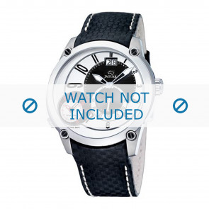Jaguar correa de reloj J630/1 / J630/1 / J630/2 / J630/3 / J630/A / J630/B / J630/C / J630/D / J630/E / J630/F / J630/G / J630/H  Cuero Negro 24mm + costura blanca