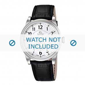 Jaguar correa de reloj J662/1 / J662/2 / J662/3 / J662/4 / J662/T Cuero Negro 22mm + costura negro