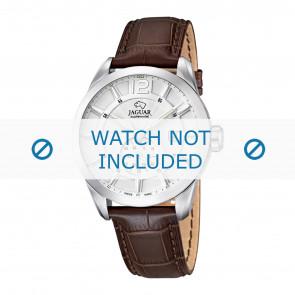 Jaguar correa de reloj J661/1 / J663/1 Cuero Marrón 21mm + costura marrón
