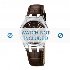 Jaguar correa de reloj J674-2 Cuero Marrón + costura marrón