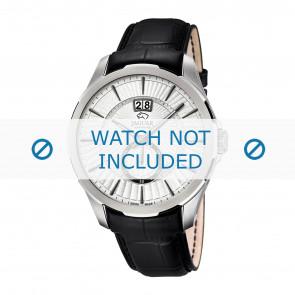Jaguar correa de reloj J682-1 / J682-2 / J682-3 / J682-4 Cuero Negro 22mm + costura negro