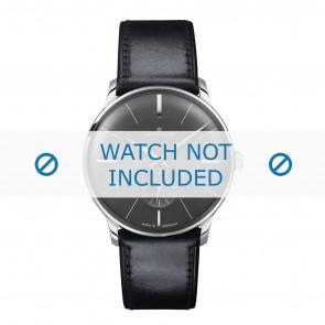 Junghans correa de reloj 027/3503.00 Cuero Negro 20mm + costura predeterminada