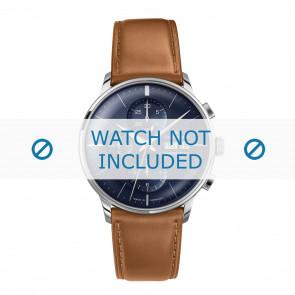 Junghans correa de reloj 027/4526.00 Cuero Cognac 21mm + costura predeterminada