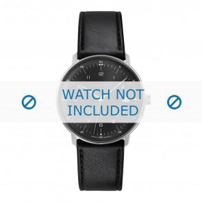 Junghans correa de reloj 041/4462.00 Cuero Negro 20mm + costura predeterminada