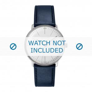 Correa de reloj Junghans 041/4464.00 Cuero Azul 20mm