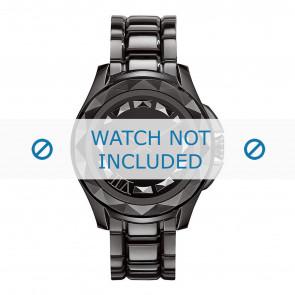 Karl Lagerfeld correa de reloj KL1001 Metal Negro 10mm