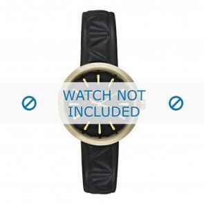 Karl Lagerfeld correa de reloj KL1610 Cuero Negro